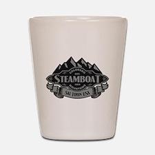 Steamboat Mountain Emblem Shot Glass