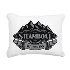 Steamboat Mountain Emblem Rectangular Canvas Pillo