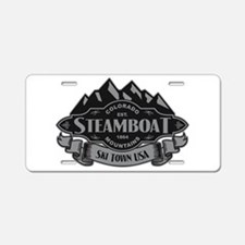 Steamboat Mountain Emblem Aluminum License Plate