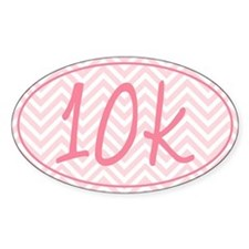 10k Pink Chevron Decal