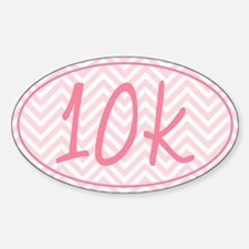 10k Pink Chevron Sticker (Oval)
