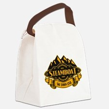 Steamboat Mountain Emblem Canvas Lunch Bag