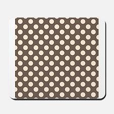 Dots on Gray Mousepad