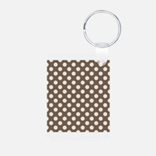 Dots on Gray Keychains