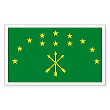 Adygea Flag Rectangle Decal