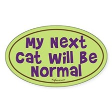 Normal Next Cat Oval Decal