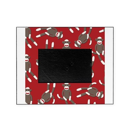 Red Sock Monkey Print Picture Frame