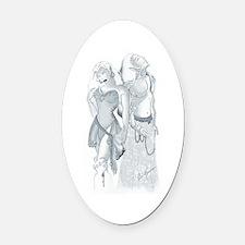 Elven Adventurers Oval Car Magnet