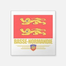 "Basse-Normandie (Flag 10).png Square Sticker 3"" x"