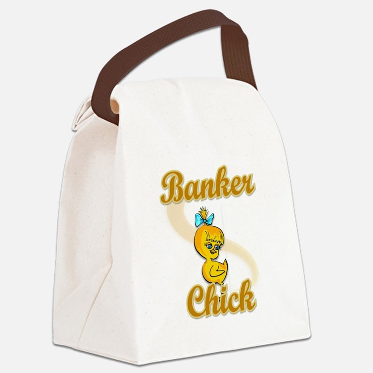 Banker Chick #2 Canvas Lunch Bag