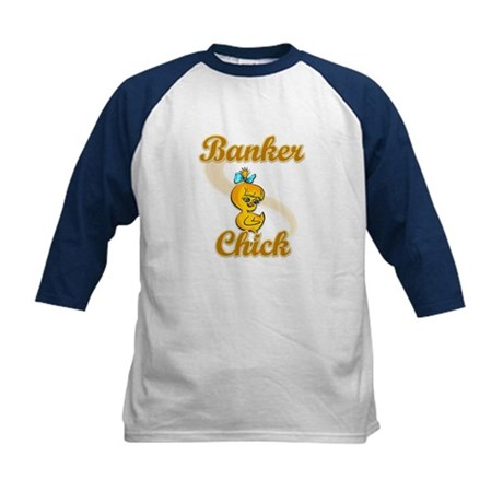 Banker Chick #2 Kids Baseball Jersey