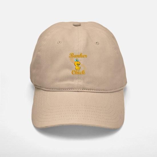 Banker Chick #2 Baseball Baseball Cap