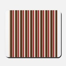 Red Gray Brown Stripes Mousepad