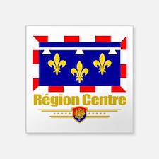 "Centre (Flag 10).png Square Sticker 3"" x 3"""