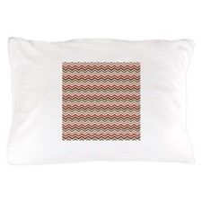 Red Gray Chevron Zigzags Pillow Case