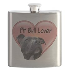 Pit Bull Lover Flask