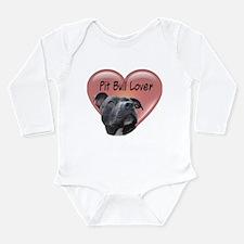 Pit Bull Lover Long Sleeve Infant Bodysuit