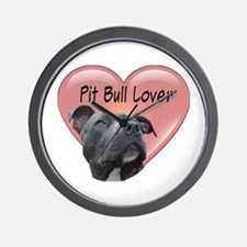Pit Bull Lover Wall Clock