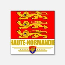 "Haute-Normandie (Flag 10).png Square Sticker 3"" x"