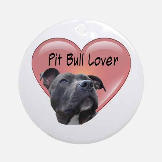 Pit Bull Lover Ornament (Round)