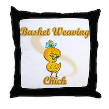 Basket Weaving Chick #2 Throw Pillow