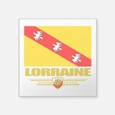 "Lorraine (Flag 10).png Square Sticker 3"" x 3"""