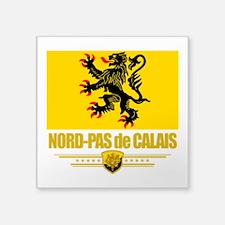 "Nord-Pas de Calais (Flag 10).png Square Sticker 3"""