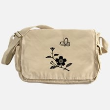 cherry blossoms and butterfly Messenger Bag