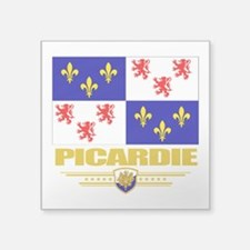 "Picardie (Flag 10).png Square Sticker 3"" x 3"""