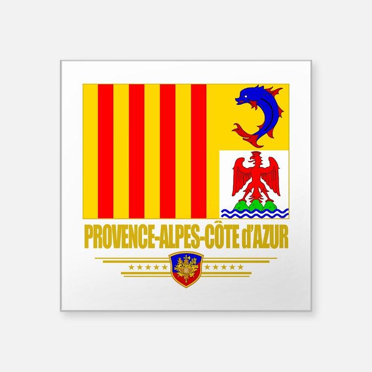 Provence-Alpes-Cote (Flag 10).png Square Sticker 3