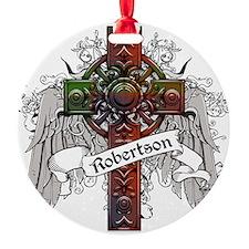 Robertson Tartan Cross Round Ornament