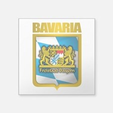"Bavarian Gold.png Square Sticker 3"" x 3"""