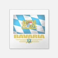 "Bavaria (Flag 10).png Square Sticker 3"" x 3"""
