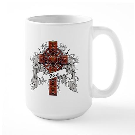 Rose Tartan Cross Large Mug
