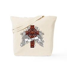 Rose Tartan Cross Tote Bag