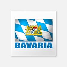 """Bavaria Flag COA.png Square Sticker 3"""" x 3"""""""
