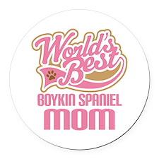 Boykin Spaniel Mom Round Car Magnet