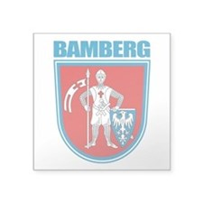 "Bamberg.png Square Sticker 3"" x 3"""