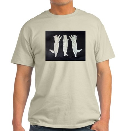 dancing cats, black and white Ash Grey T-Shirt