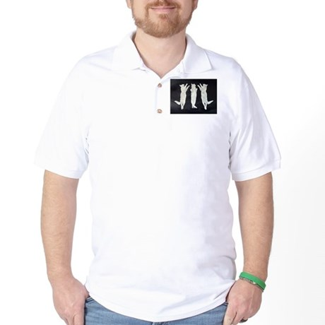 dancing cats, black and white Golf Shirt