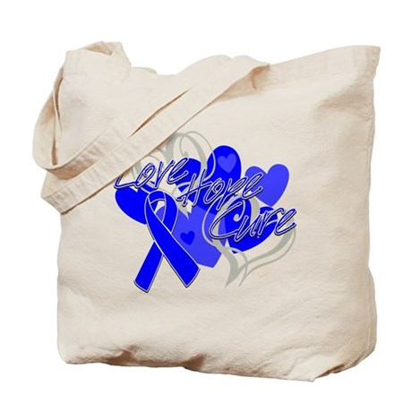 rectal cancer cure tote bag by gifts4awareness