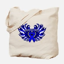 Anal Cancer Heart Wings Tote Bag