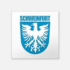 "Schweinfurt.png Square Sticker 3"" x 3"""