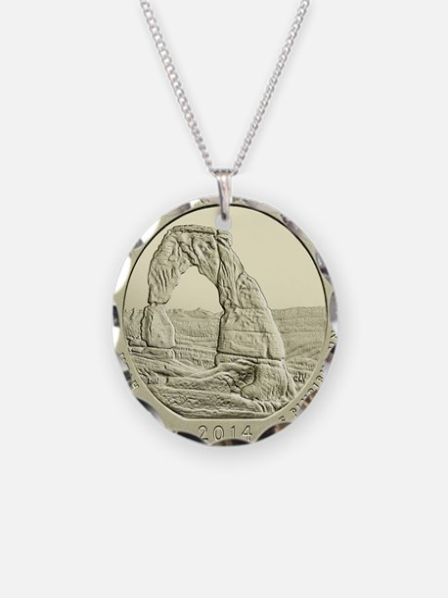 Utah Quarter 2014 Basic Necklace