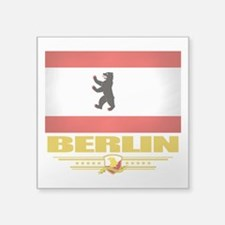 """Berlin (Flag 10).png Square Sticker 3"""" x 3"""""""