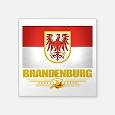 "Brandenburg (Flag 10).png Square Sticker 3"" x 3"""