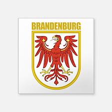 "Brandenburg (gold).png Square Sticker 3"" x 3"""