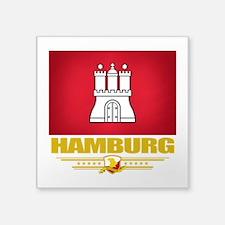 """Hamburg (Flag 10).png Square Sticker 3"""" x 3"""""""