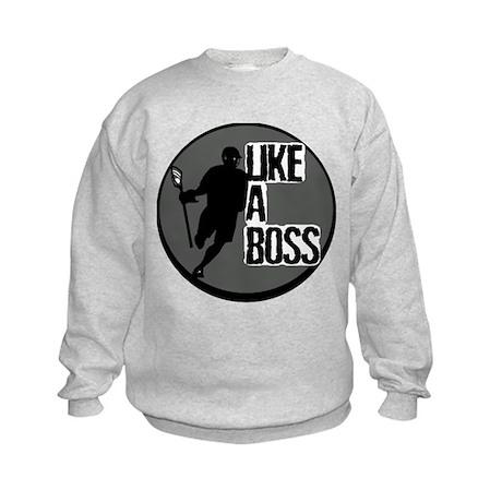 Lacrosse Like A Boss Kids Sweatshirt
