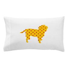 Yellow Polka Affen Pillow Case